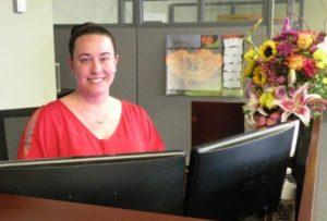 Jessica Hein, HH receptionist